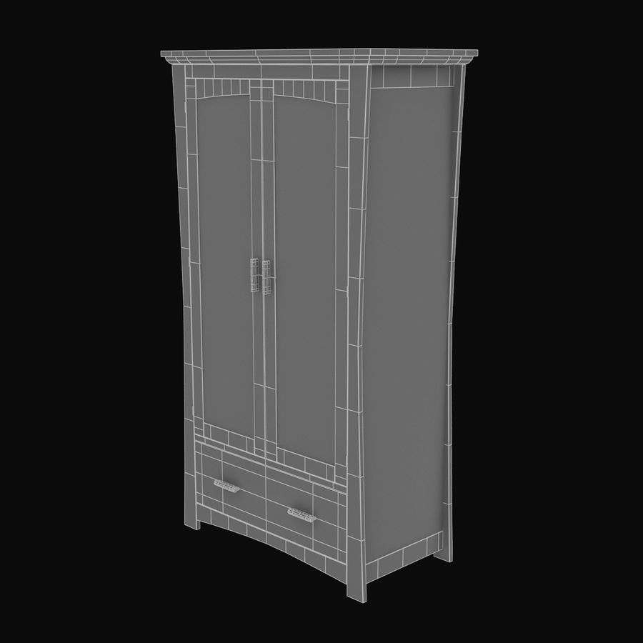 Childs Room Cupboard royalty-free 3d model - Preview no. 10
