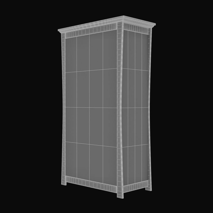Childs Room Cupboard royalty-free 3d model - Preview no. 12