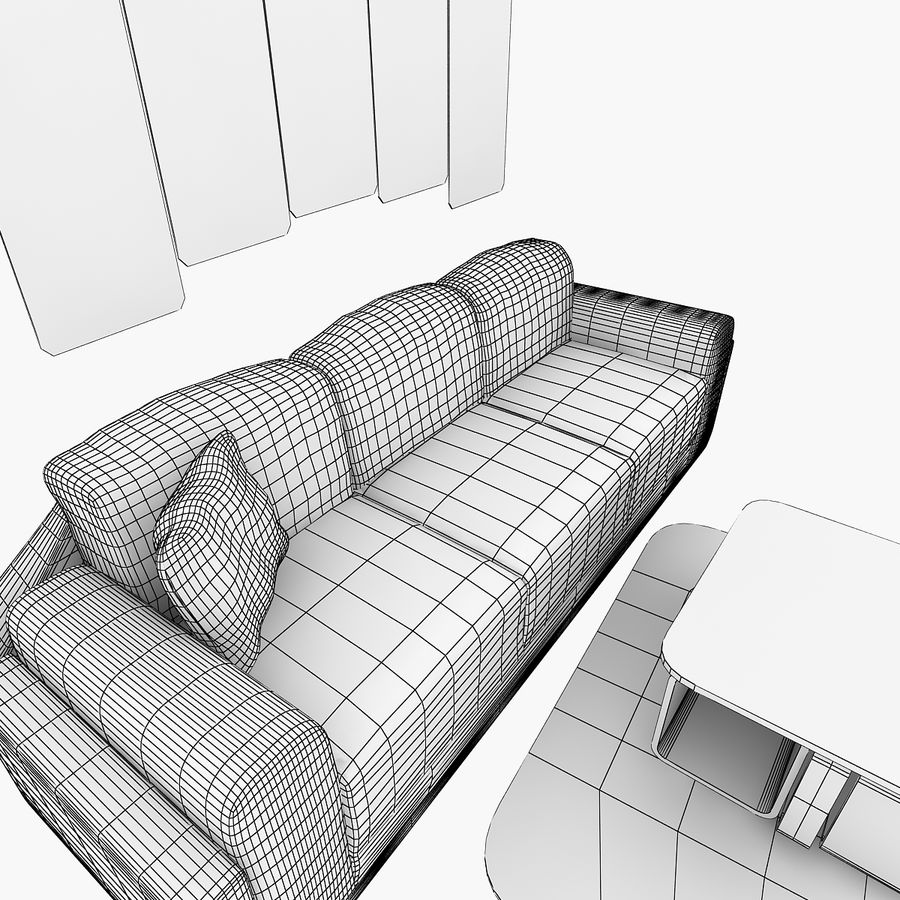Woonkamer Set royalty-free 3d model - Preview no. 5