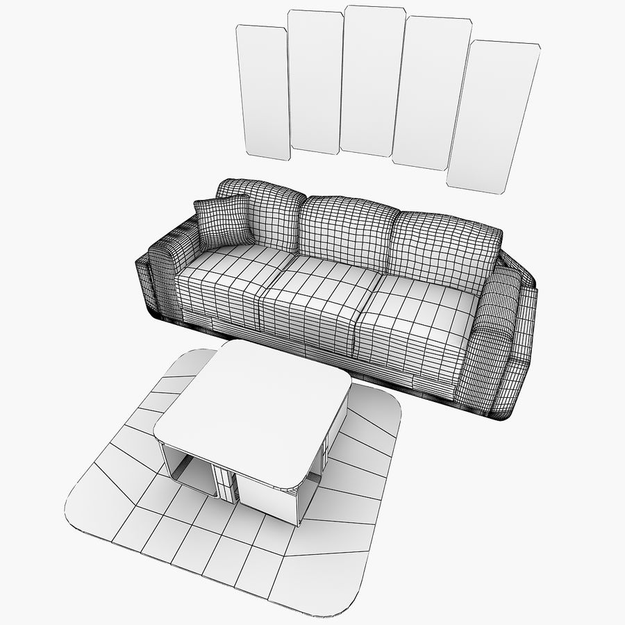Woonkamer Set royalty-free 3d model - Preview no. 4