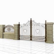 Wrought Iron Gate 22 3d model