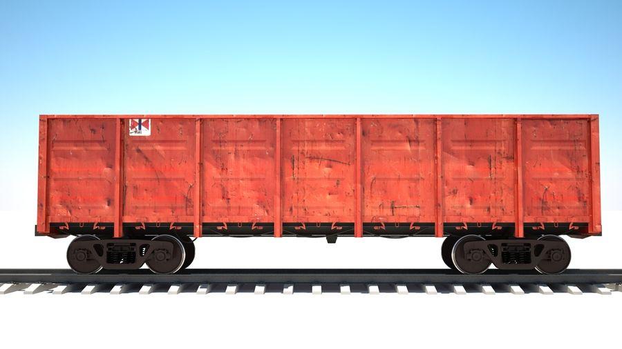 Vagão ferroviário royalty-free 3d model - Preview no. 5