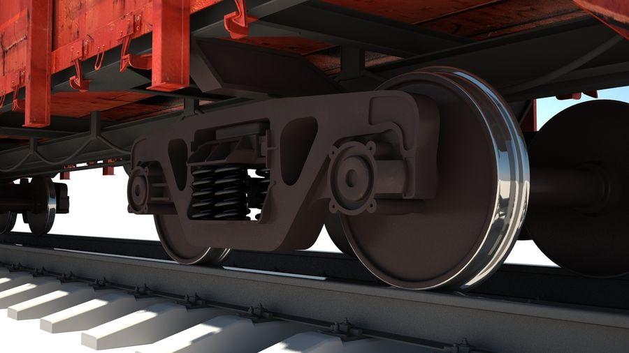 Vagão ferroviário royalty-free 3d model - Preview no. 3