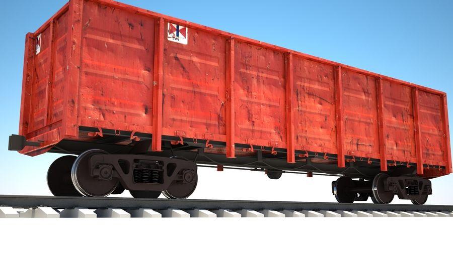 Vagão ferroviário royalty-free 3d model - Preview no. 1