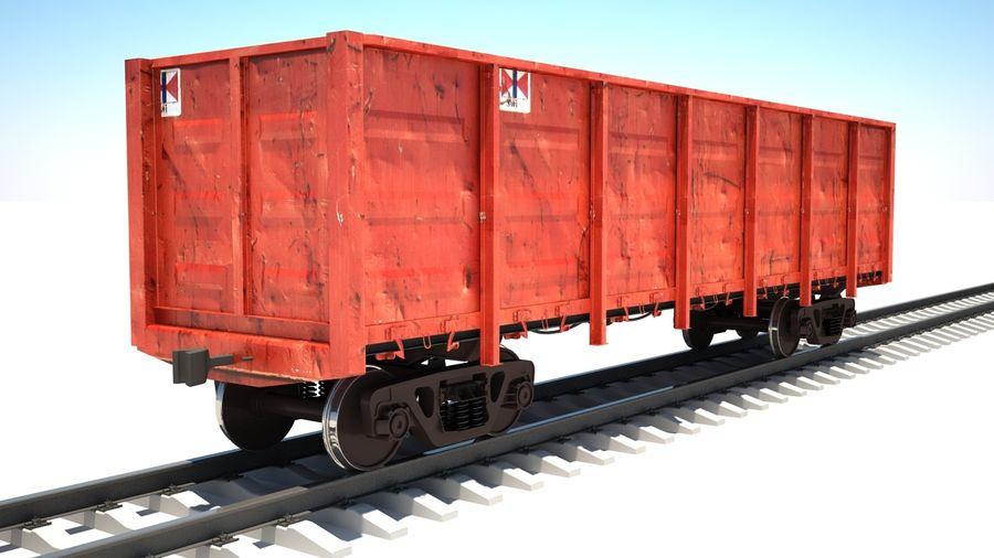 Vagão ferroviário royalty-free 3d model - Preview no. 2