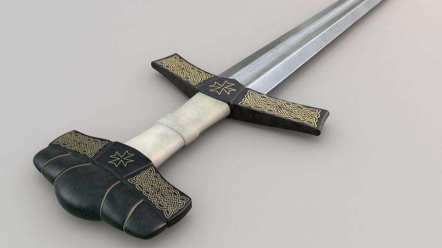 Меч викингов royalty-free 3d model - Preview no. 1