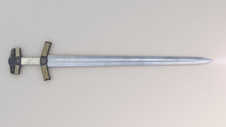 Меч викингов royalty-free 3d model - Preview no. 5