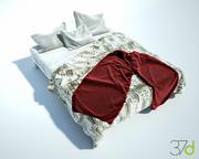 Фотореалистичная кровать 37d 3d model