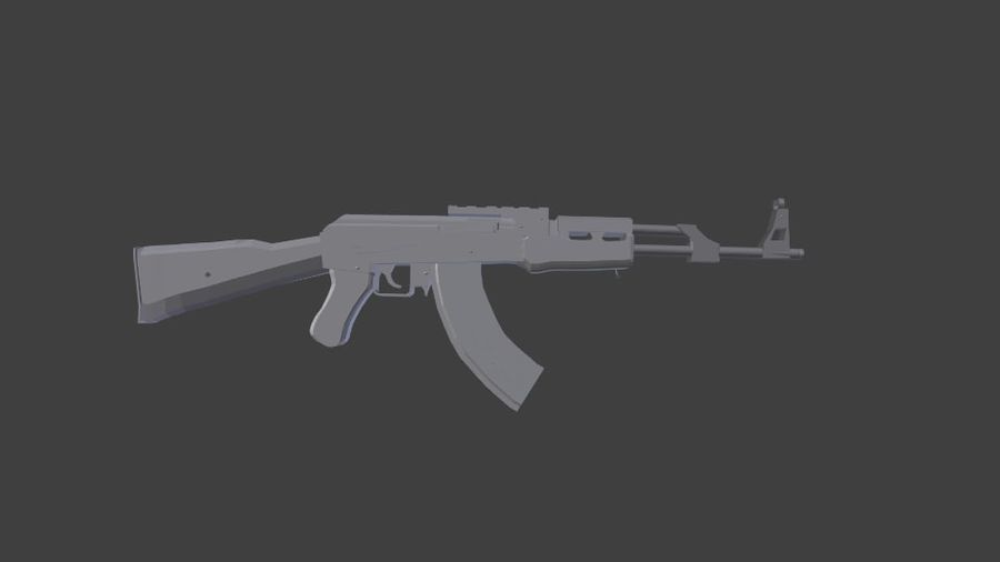 Apocolypse AK-47 royalty-free 3d model - Preview no. 2