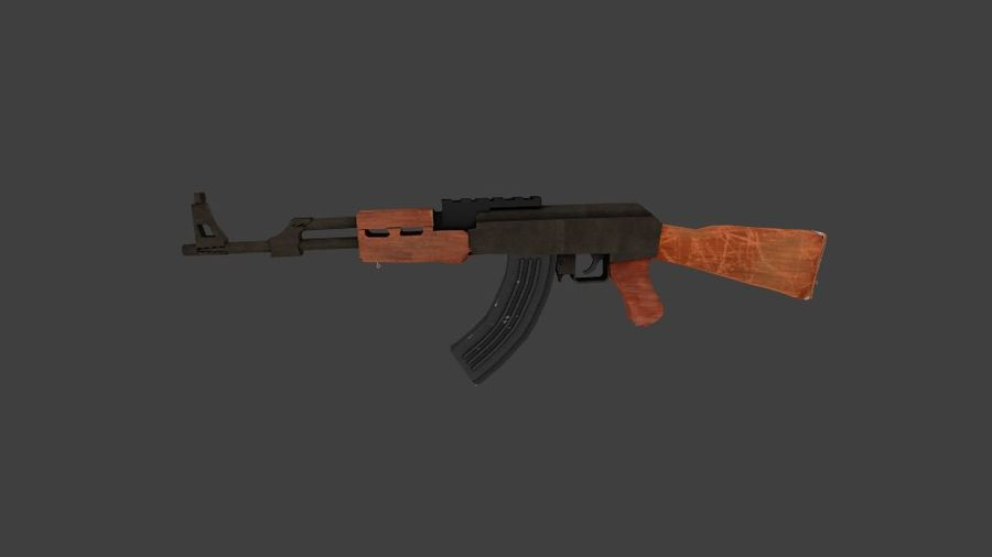 Apocolypse AK-47 royalty-free 3d model - Preview no. 1