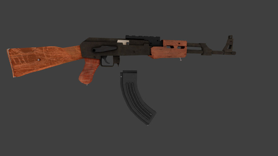 Apocolypse AK-47 royalty-free 3d model - Preview no. 3