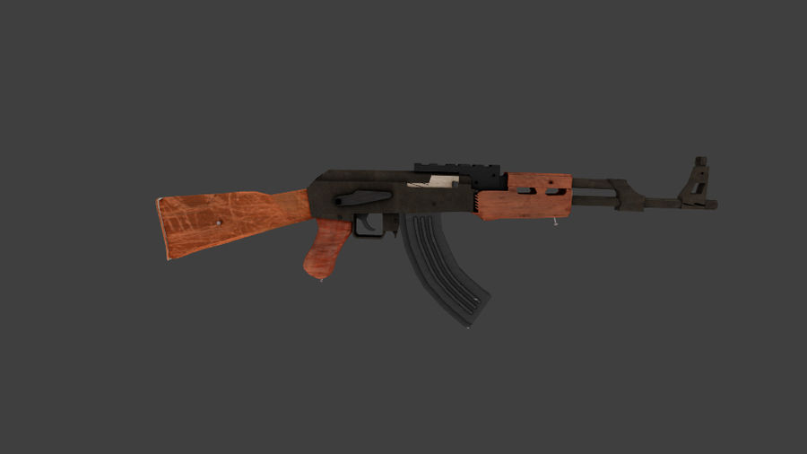 Apocolypse AK-47 royalty-free 3d model - Preview no. 5