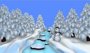 snö flod scen 3d model