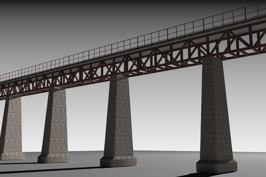 Viaduct royalty-free 3d model - Preview no. 5