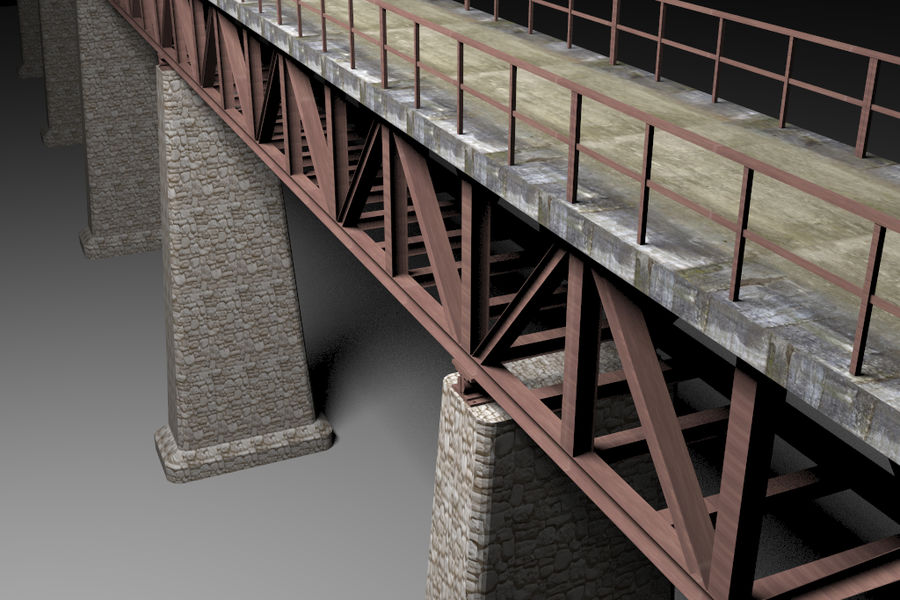 Viaduct royalty-free 3d model - Preview no. 7