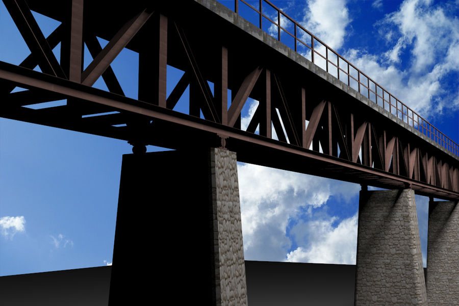 Viaduct royalty-free 3d model - Preview no. 6