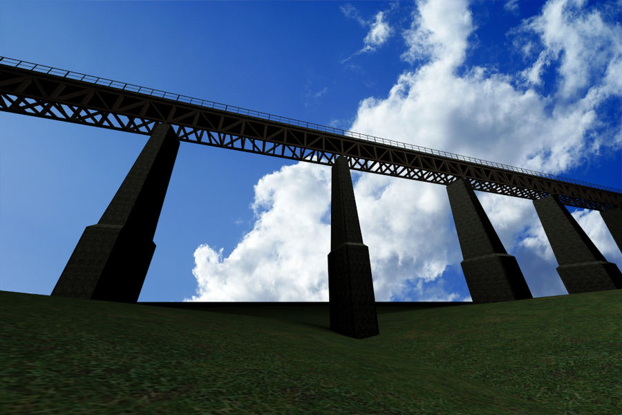 Viaduct royalty-free 3d model - Preview no. 1