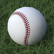 Baseball Low Poly 3d model