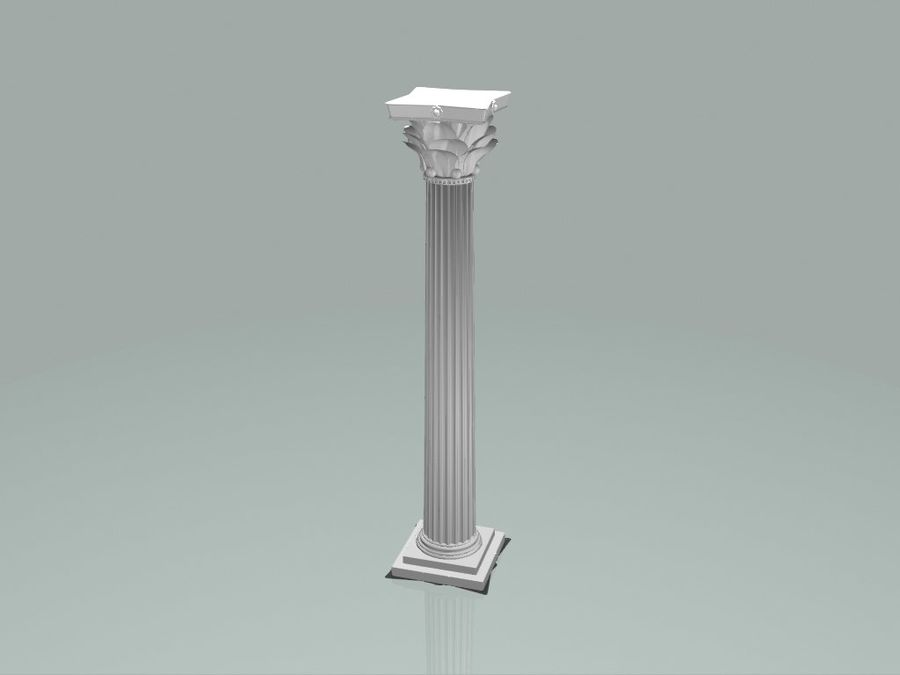 Romeinse zuil royalty-free 3d model - Preview no. 2