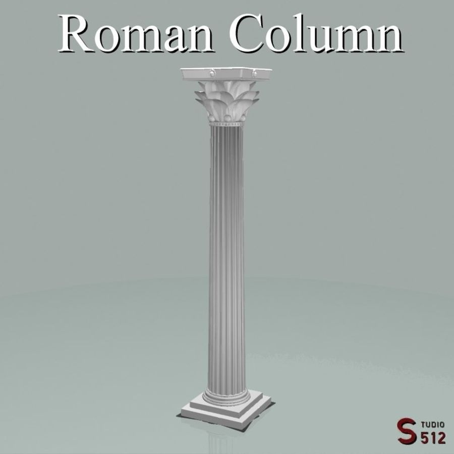 Romeinse zuil royalty-free 3d model - Preview no. 1