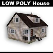 Dom - niski poli 3d model