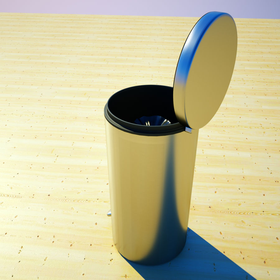 Trash Can and bag royalty-free 3d model - Preview no. 3