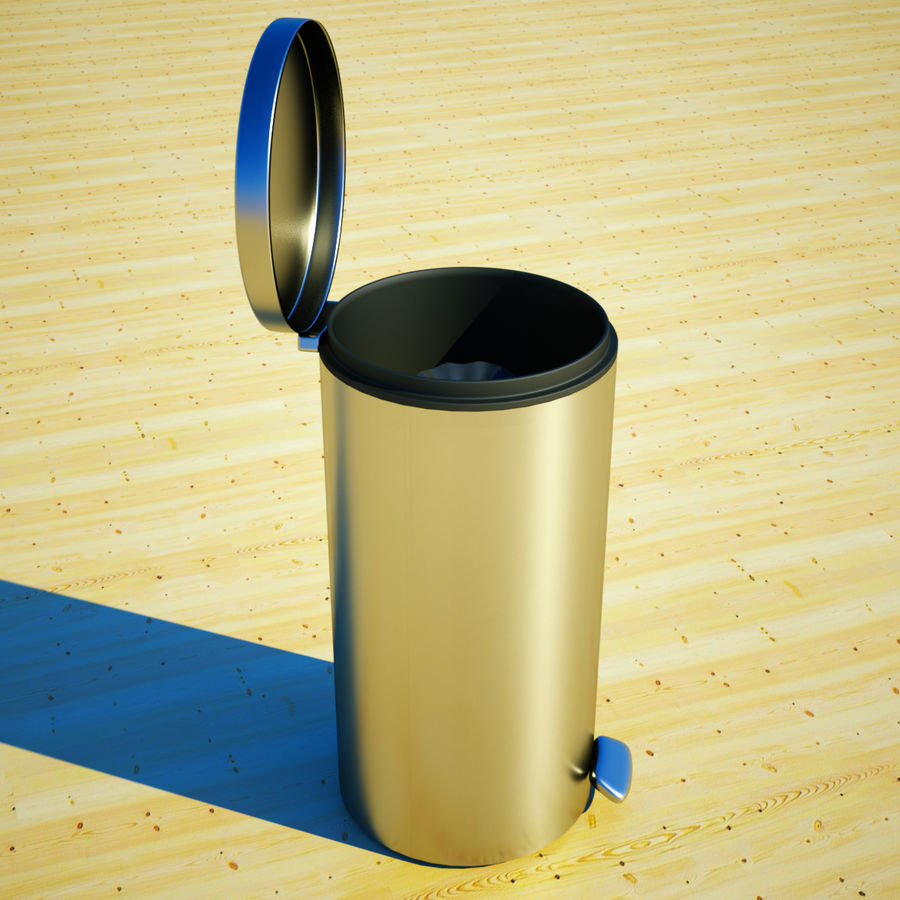 Trash Can and bag royalty-free 3d model - Preview no. 9