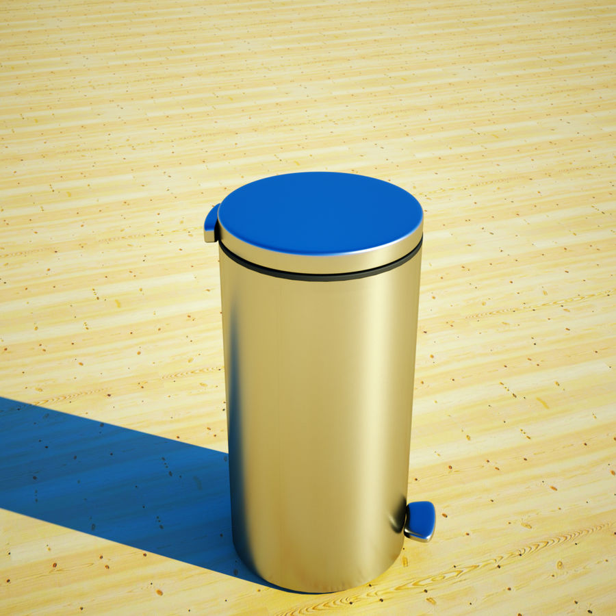 Trash Can and bag royalty-free 3d model - Preview no. 2