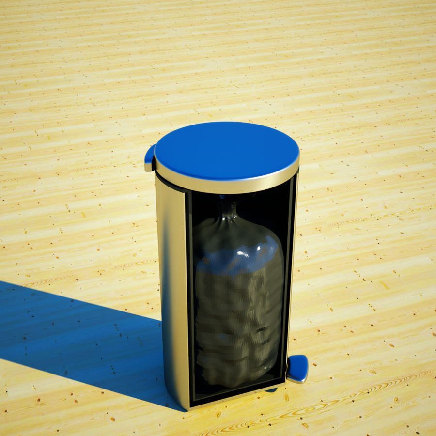 Trash Can and bag royalty-free 3d model - Preview no. 10