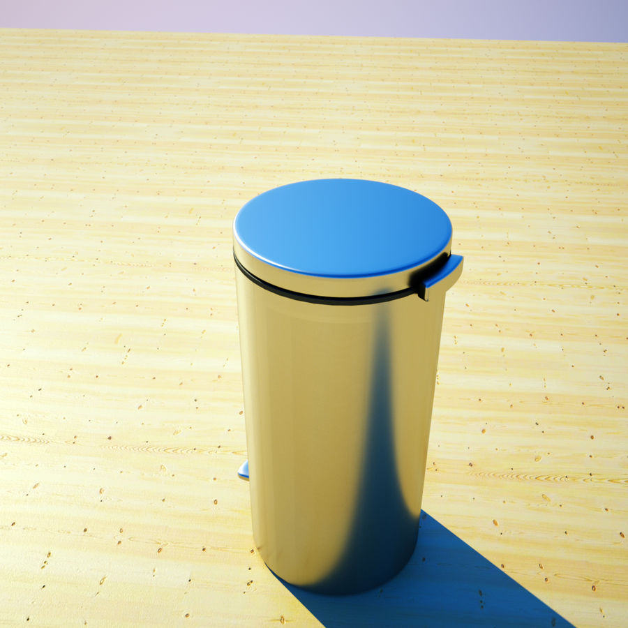 Trash Can and bag royalty-free 3d model - Preview no. 4