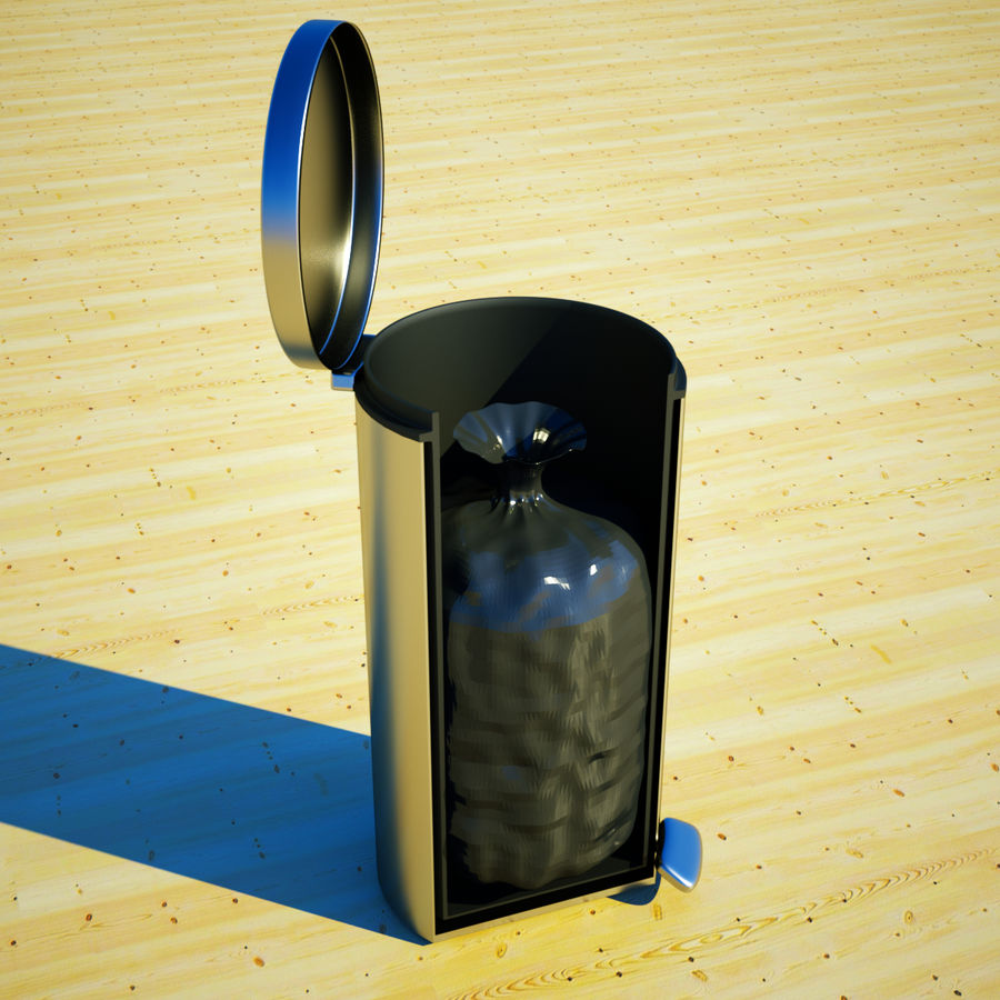 Trash Can and bag royalty-free 3d model - Preview no. 1
