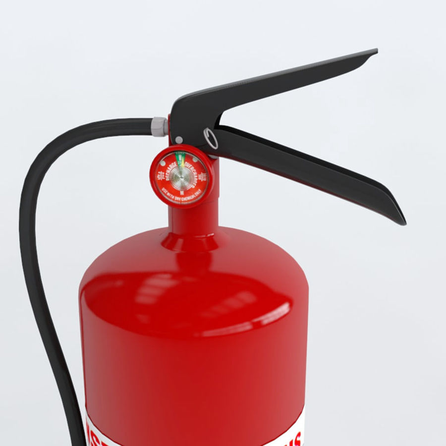 Fire Extinguisher royalty-free 3d model - Preview no. 5