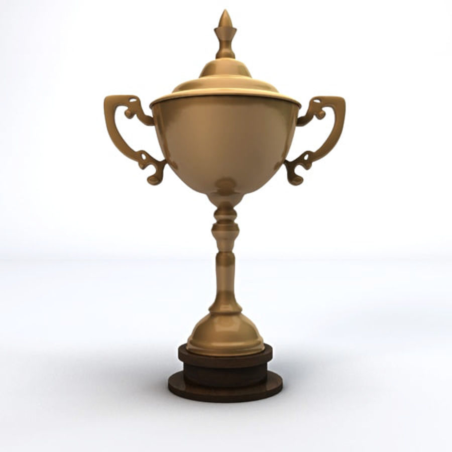 Gold Trophy royalty-free 3d model - Preview no. 4