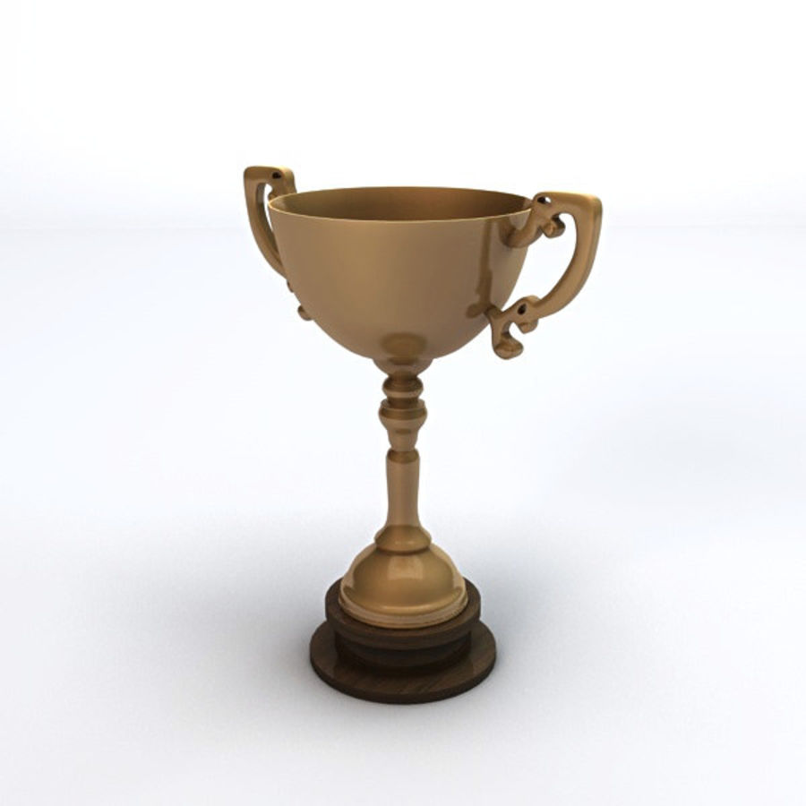 Gold Trophy royalty-free 3d model - Preview no. 3