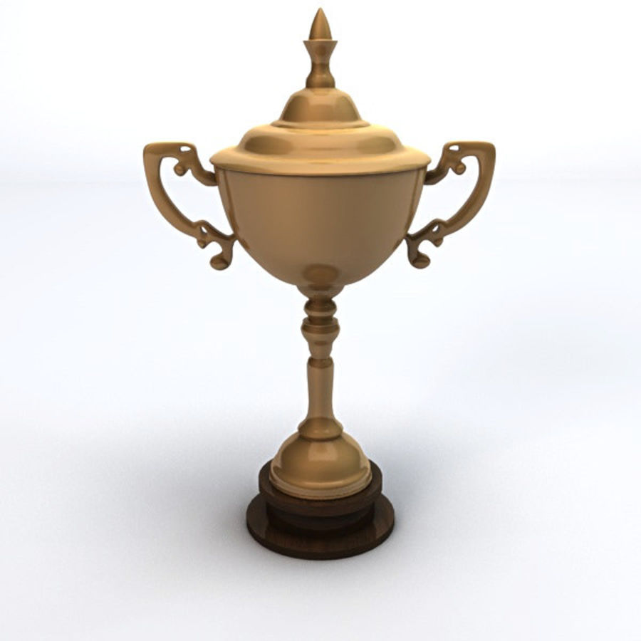 Gold Trophy royalty-free 3d model - Preview no. 1