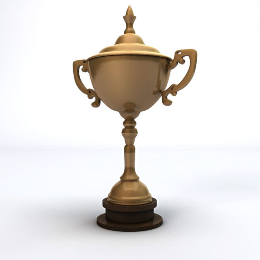 Gold Trophy royalty-free 3d model - Preview no. 5