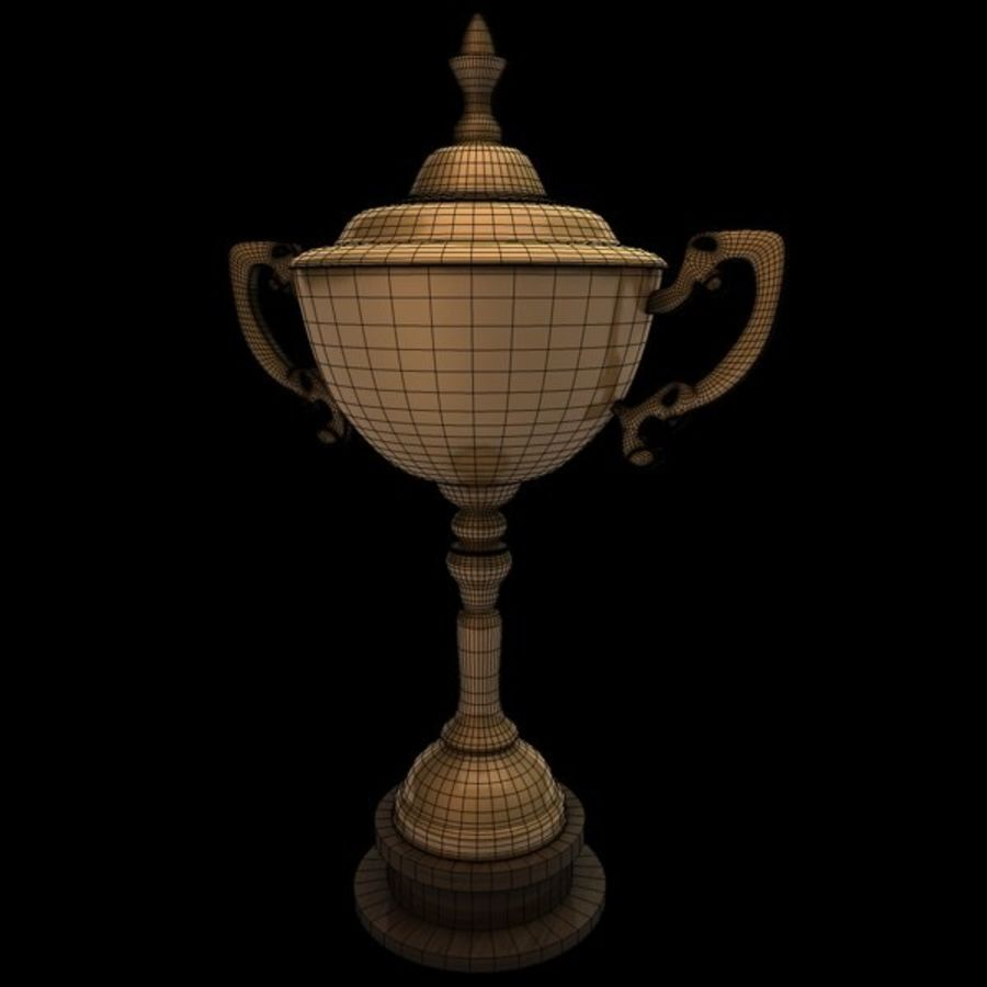 Gold Trophy royalty-free 3d model - Preview no. 7