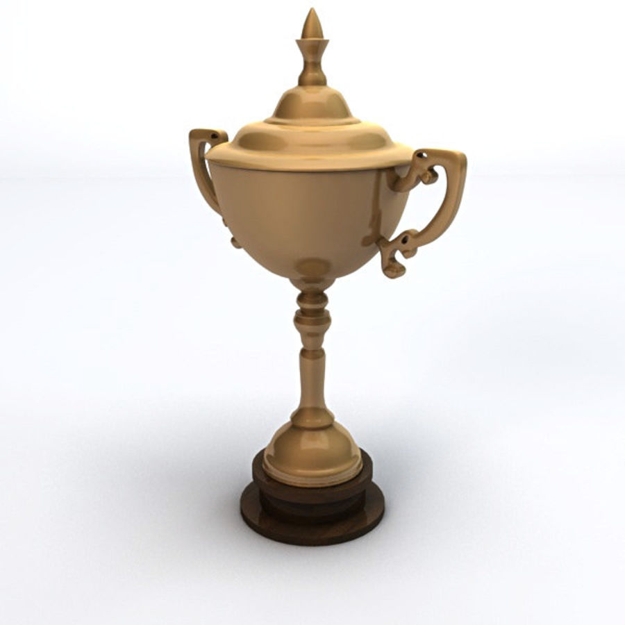 Gold Trophy royalty-free 3d model - Preview no. 2