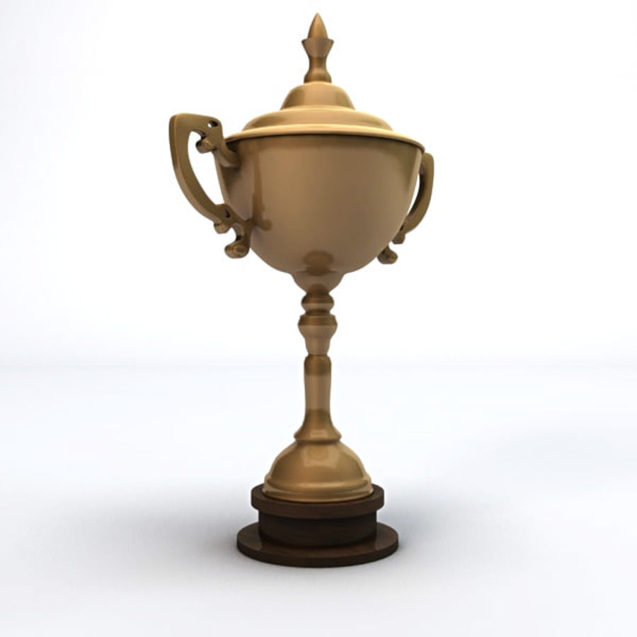 Gold Trophy royalty-free 3d model - Preview no. 6