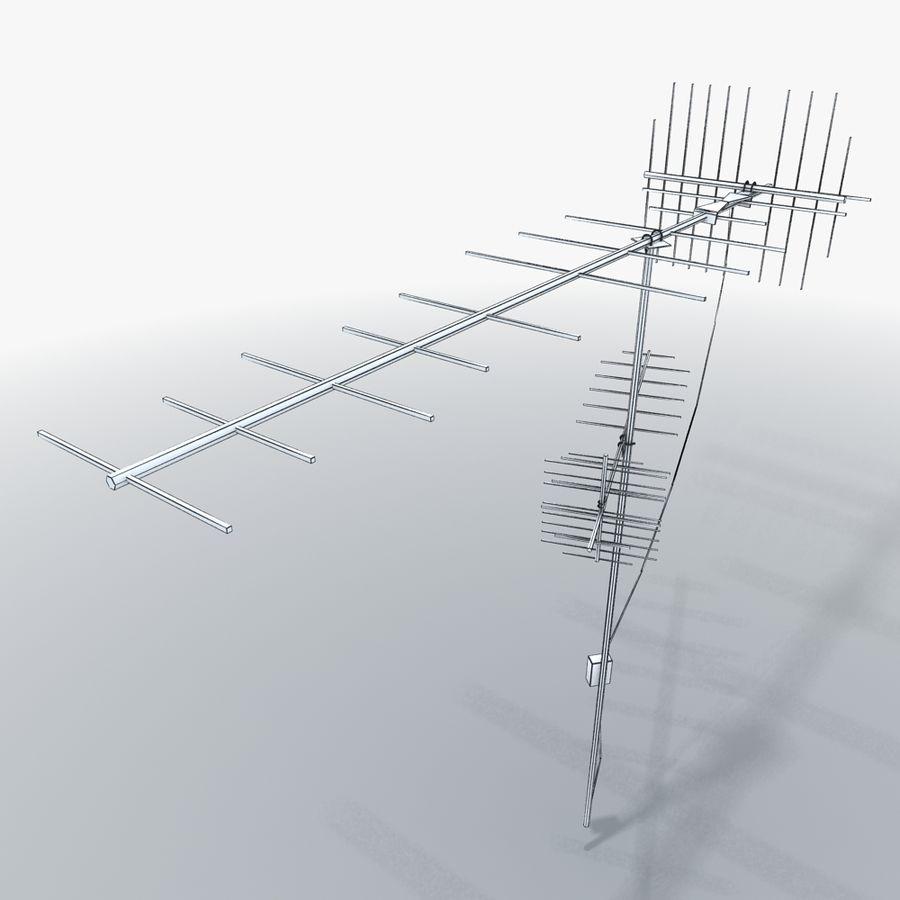 TV-antenn royalty-free 3d model - Preview no. 7