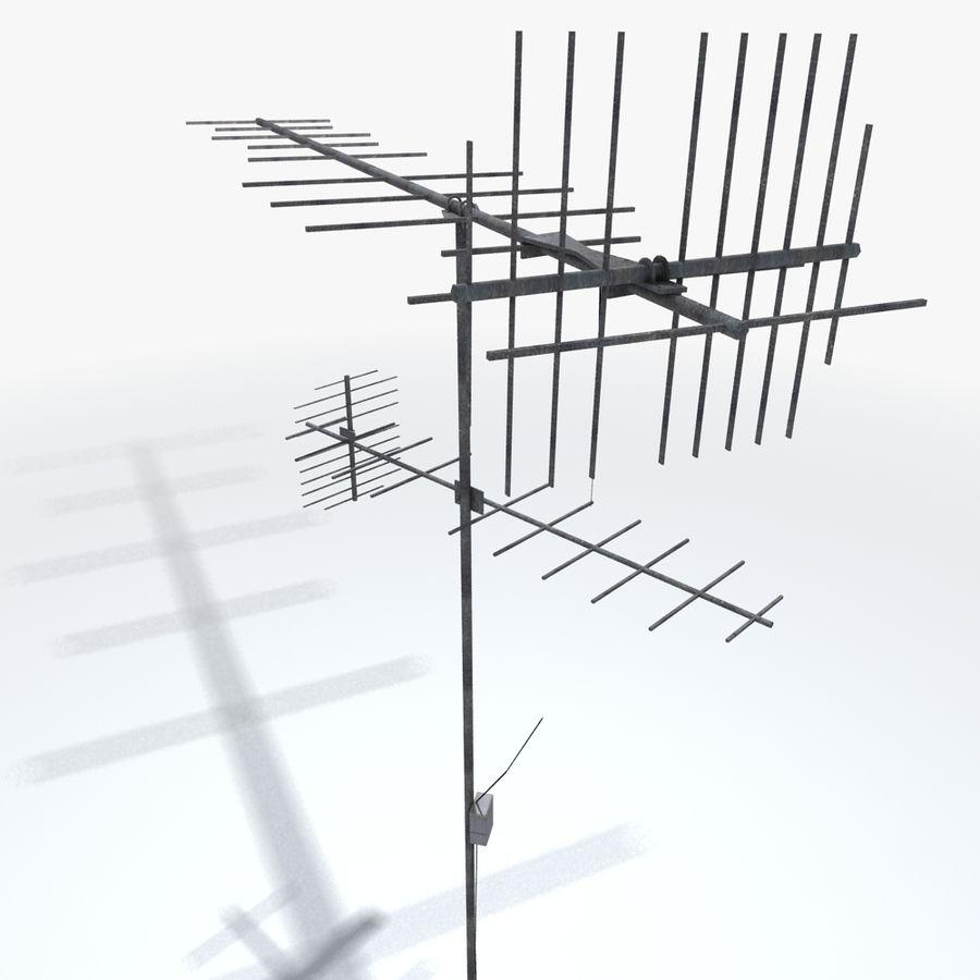 TV-antenn royalty-free 3d model - Preview no. 5