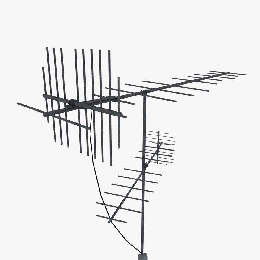 TV-antenn royalty-free 3d model - Preview no. 3