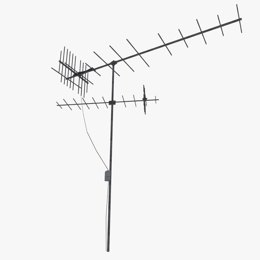 TV-antenn royalty-free 3d model - Preview no. 2