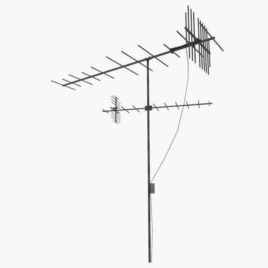 TV-antenn royalty-free 3d model - Preview no. 1