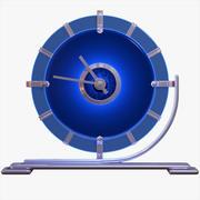 Reloj de escritorio Deco azul modelo 3d