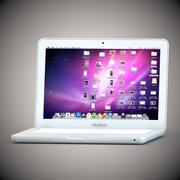 MacBook 2009 White 3d model