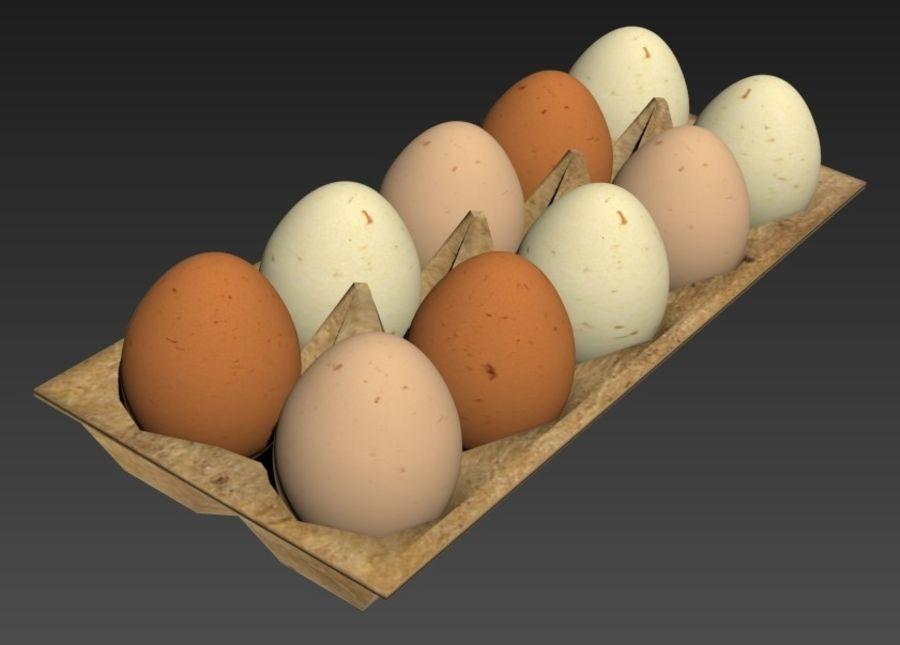 Eggs Set royalty-free 3d model - Preview no. 1