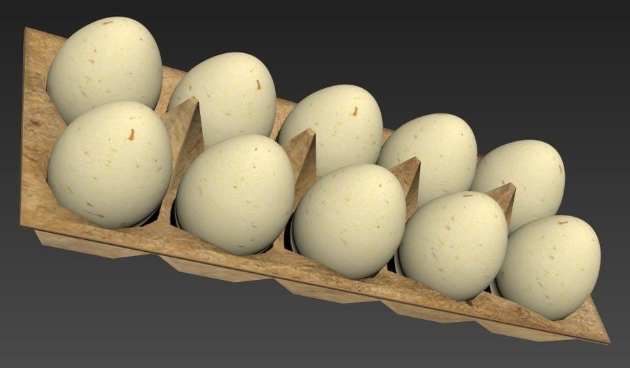 Eggs Set royalty-free 3d model - Preview no. 3