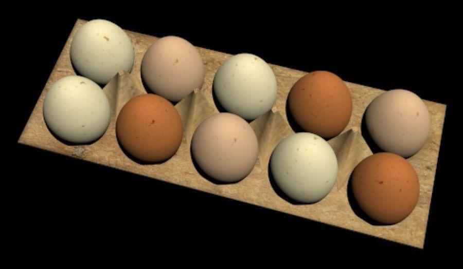 Eggs Set royalty-free 3d model - Preview no. 2