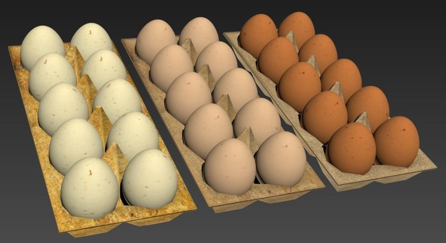 Eggs Set royalty-free 3d model - Preview no. 6